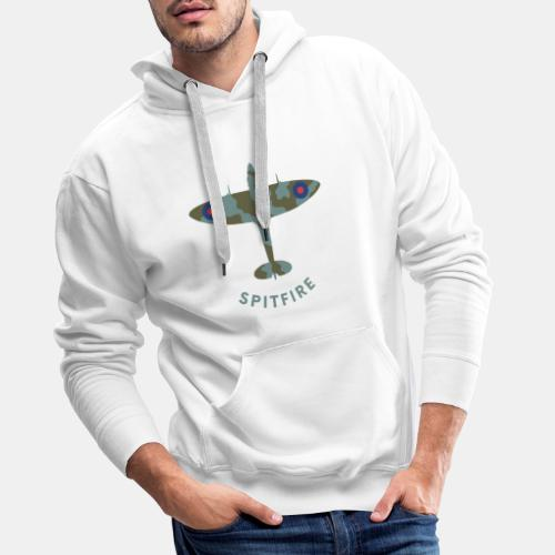 Spitfire fighter plane - Men's Premium Hoodie