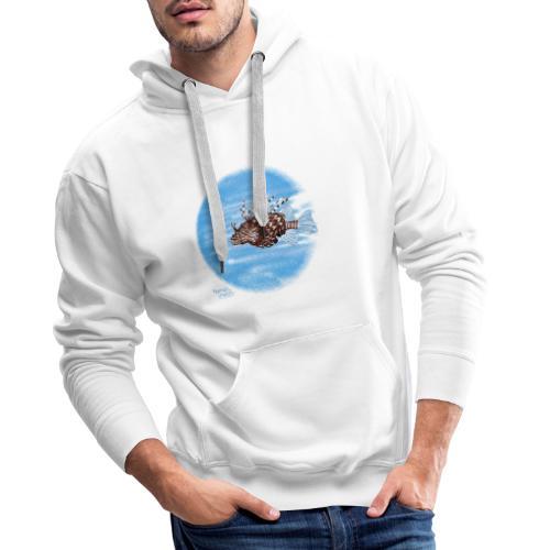 Poisson zèbre - Sweat-shirt à capuche Premium pour hommes