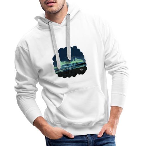 Reflet des aurores boréales - Sweat-shirt à capuche Premium pour hommes