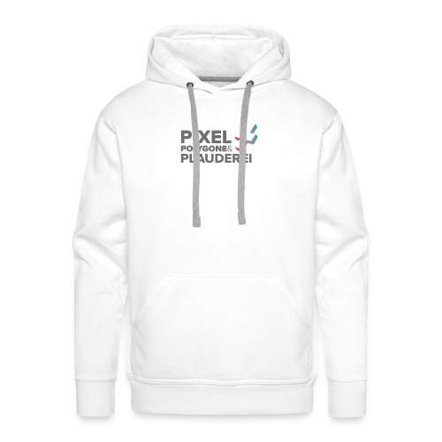 Pixel Polygone Plauderei Logo Grau - Männer Premium Hoodie