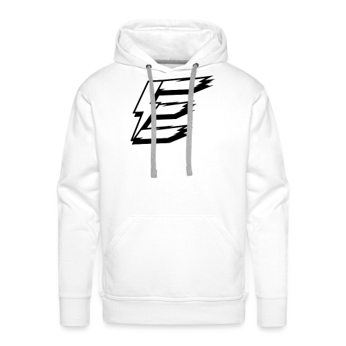 White Logo Big - Men's Premium Hoodie