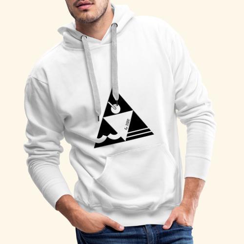 TRI WHITE by 3BSR - Sweat-shirt à capuche Premium pour hommes