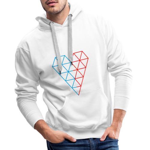 The Heart of Life x 1, Dual Polygon. - Men's Premium Hoodie
