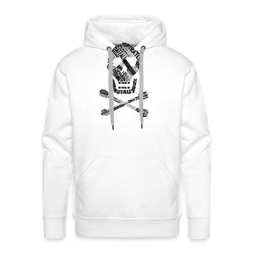 Tête de mort mots - Sweat-shirt à capuche Premium pour hommes
