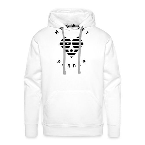 Border and sea - Sweat-shirt à capuche Premium pour hommes