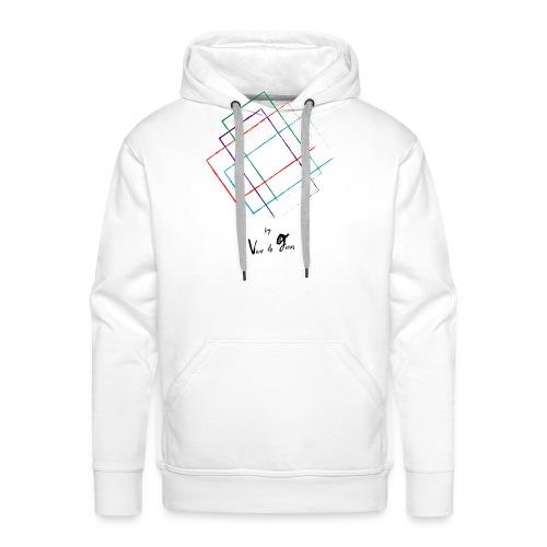 Formas - Sudadera con capucha premium para hombre