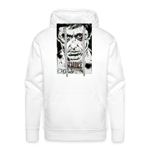 Portrait unique scarface - Sweat-shirt à capuche Premium pour hommes