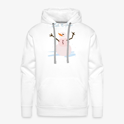 snowman let it snow - Sweat-shirt à capuche Premium pour hommes