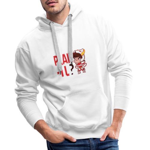 Seiya - Plaît-il ? (texte rouge) - Sweat-shirt à capuche Premium pour hommes