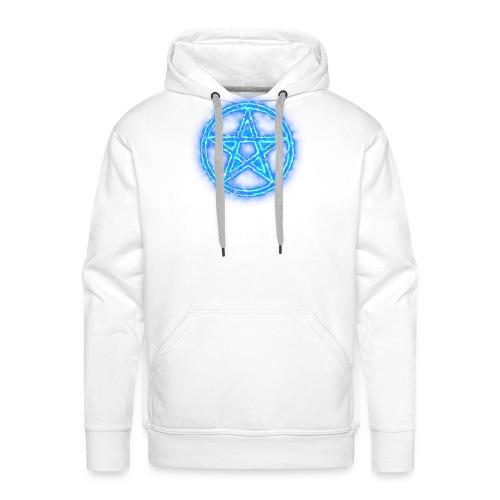 Pentagramm blau Energie - Männer Premium Hoodie