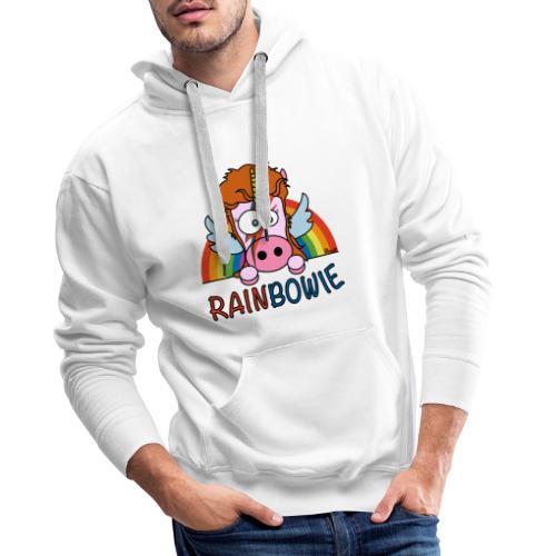 Licorne RainBow Bowie - Sweat-shirt à capuche Premium pour hommes