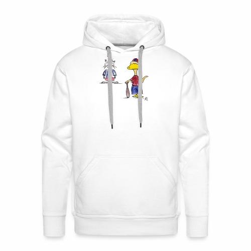 Cartoon Baseball - Männer Premium Hoodie