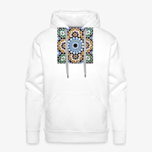 mosaique afrique du nord jpg - Sweat-shirt à capuche Premium pour hommes