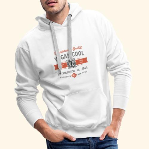 VEGAN COOL VINTAGE Brand - Men's Premium Hoodie
