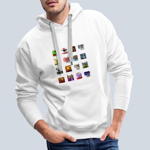 A Planet of Mine Animals - Sweat-shirt à capuche Premium pour hommes