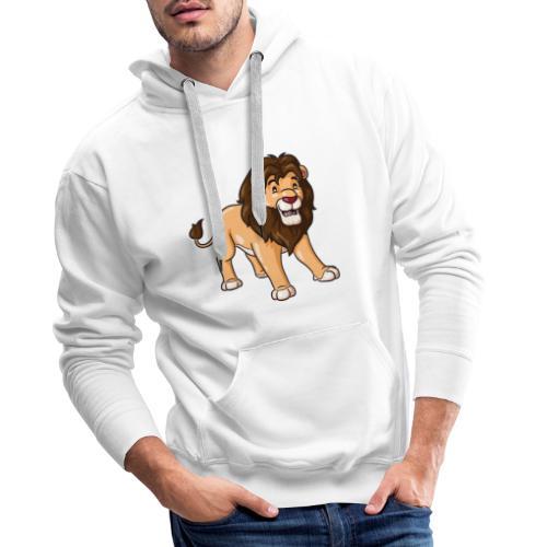 Löwe Comic süß - Männer Premium Hoodie