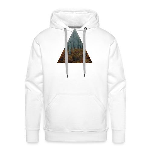 triangle/foret - Sweat-shirt à capuche Premium pour hommes