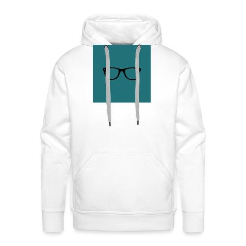 Lunettes - Fond bleu mat - Sweat-shirt à capuche Premium pour hommes