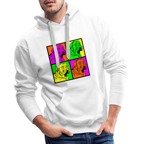 Bouledogue Anglais Couleur - Sweat-shirt à capuche Premium pour hommes