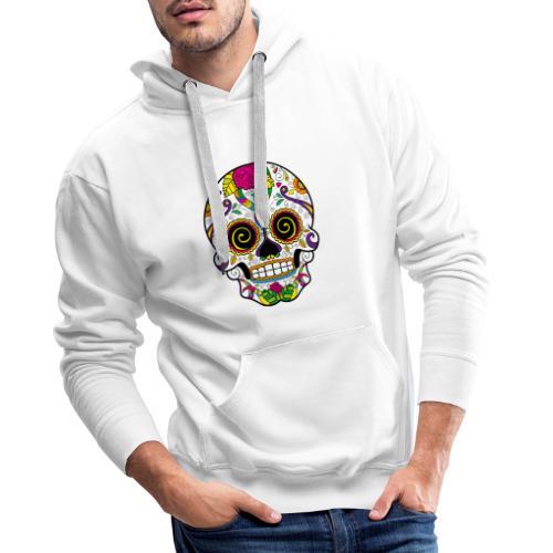 skull3 - Felpa con cappuccio premium da uomo