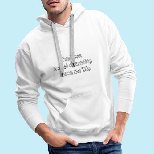 distanciation sociale - Sweat-shirt à capuche Premium pour hommes