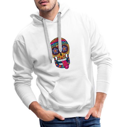 Mexican Skull - Felpa con cappuccio premium da uomo