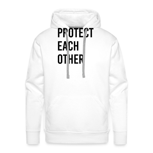 protect each other - Corona Mask - Männer Premium Hoodie