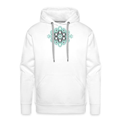 triangle geometry 4000 X 4000 px - Sweat-shirt à capuche Premium pour hommes