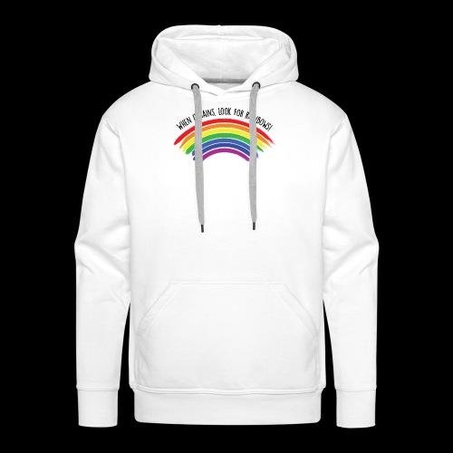 When it rains, look for rainbows! - Colorful Desig - Felpa con cappuccio premium da uomo