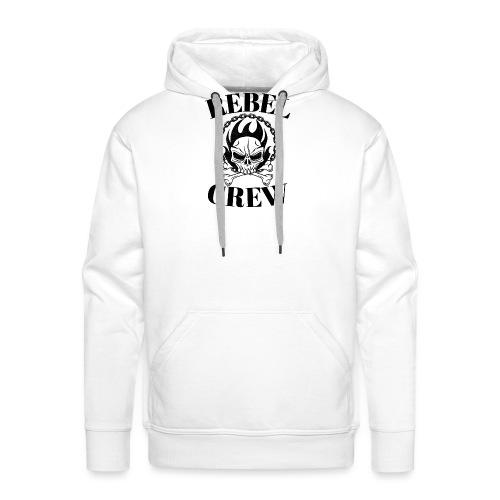 rebel crew - Sweat-shirt à capuche Premium pour hommes