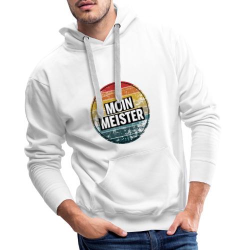 Moin Meister Retro Handwerk Geselle Azubi Geschenk - Männer Premium Hoodie