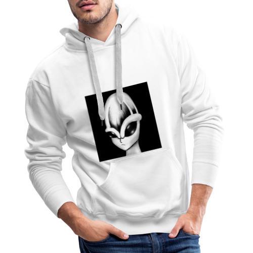 alien con trazo - Sudadera con capucha premium para hombre