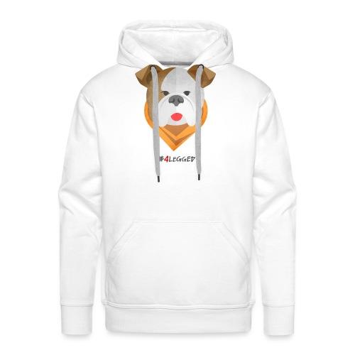 Bulldog - Felpa con cappuccio premium da uomo
