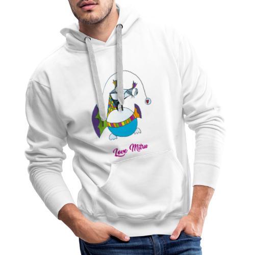Love Mitru - Sweat-shirt à capuche Premium pour hommes