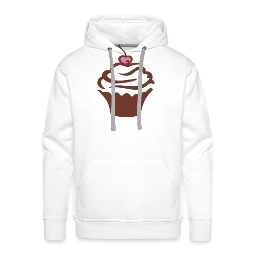 Cupcake - Felpa con cappuccio premium da uomo