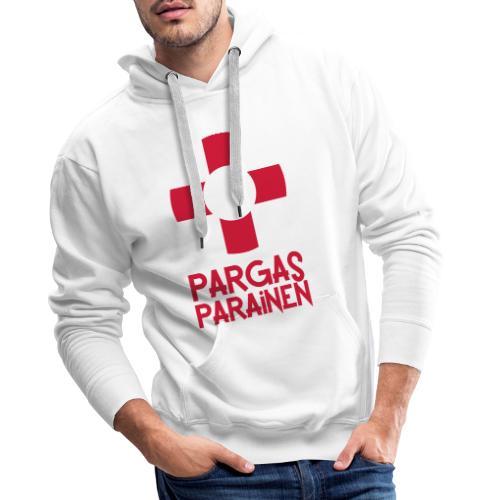 Livboj: Pargas (röd text) - Miesten premium-huppari