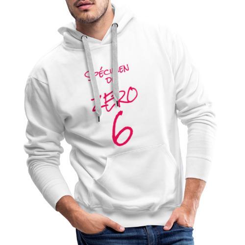 Spécimen du zero 6 - Sweat-shirt à capuche Premium pour hommes