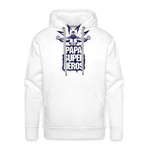 papa super heros eclair muscle bodybuild - Sweat-shirt à capuche Premium pour hommes