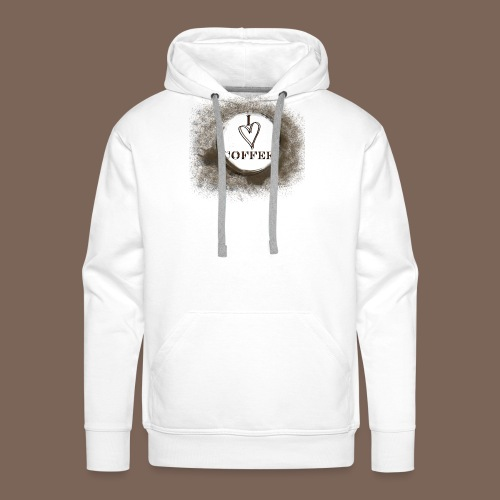 I Heart Coffee - Men's Premium Hoodie