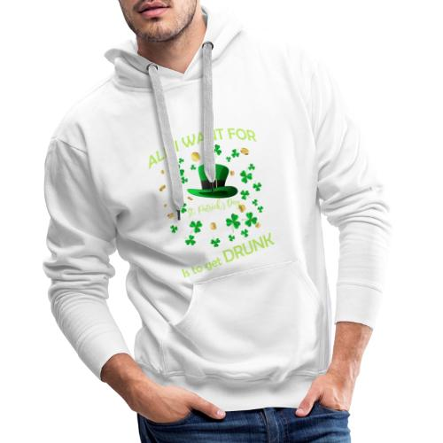 st patrick s day shirts Fun - Sweat-shirt à capuche Premium pour hommes