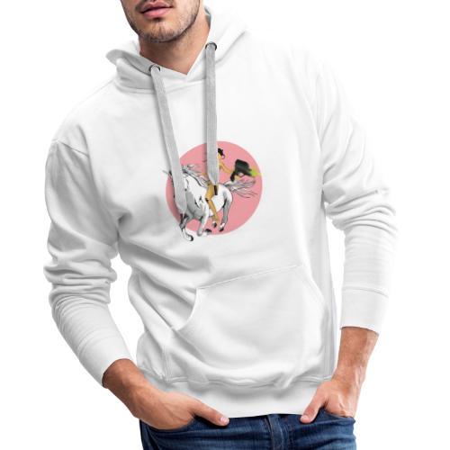 unicorn laser bikini girl - Men's Premium Hoodie
