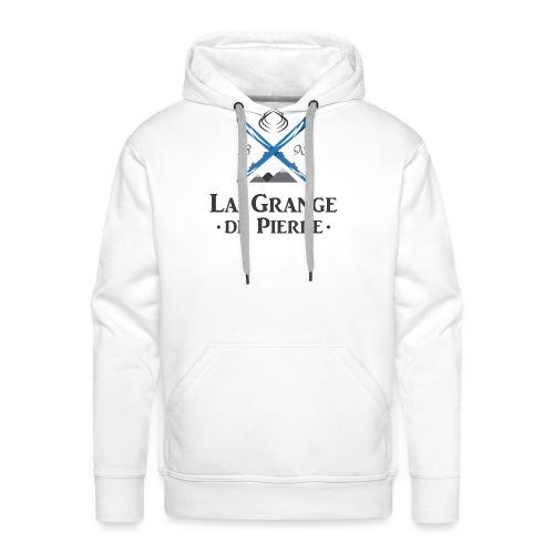 La Grange de Pierre Blue Cross Dark - Sweat-shirt à capuche Premium pour hommes