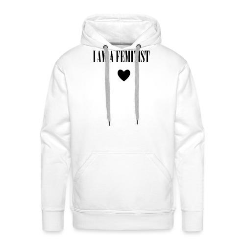 BAG I AM A FEMINIST - Mannen Premium hoodie