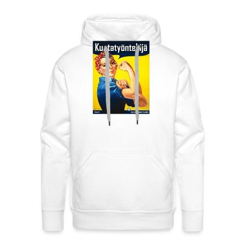 Kuntatyöntekijä - Naisten t-paita - Miesten premium-huppari
