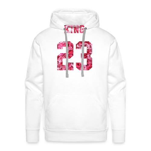 KING 23 PINK ROSES.png - Männer Premium Hoodie