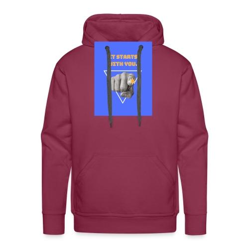 It starts with you. - Sweat-shirt à capuche Premium pour hommes