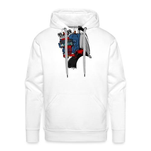 The flying skane man notext - Mannen Premium hoodie