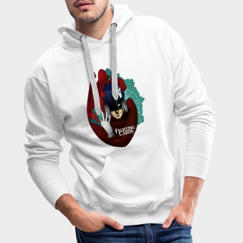 Fighting cards - Magicien - Sweat-shirt à capuche Premium pour hommes