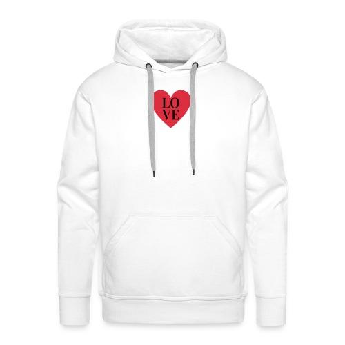 love love - Sweat-shirt à capuche Premium pour hommes