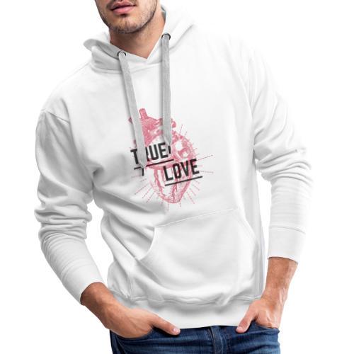 True Love - Felpa con cappuccio premium da uomo